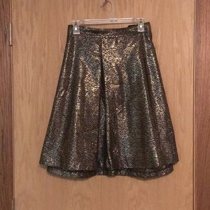 NWT Plus Size Gold and Black Skirt
